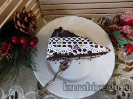 Шоколадно-кокосовый торт Новогодний