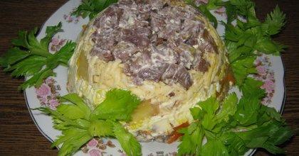 Слоёный салат «Обжорка»