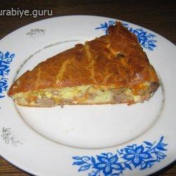 Пирог с куриной печенью, рецепт с фото